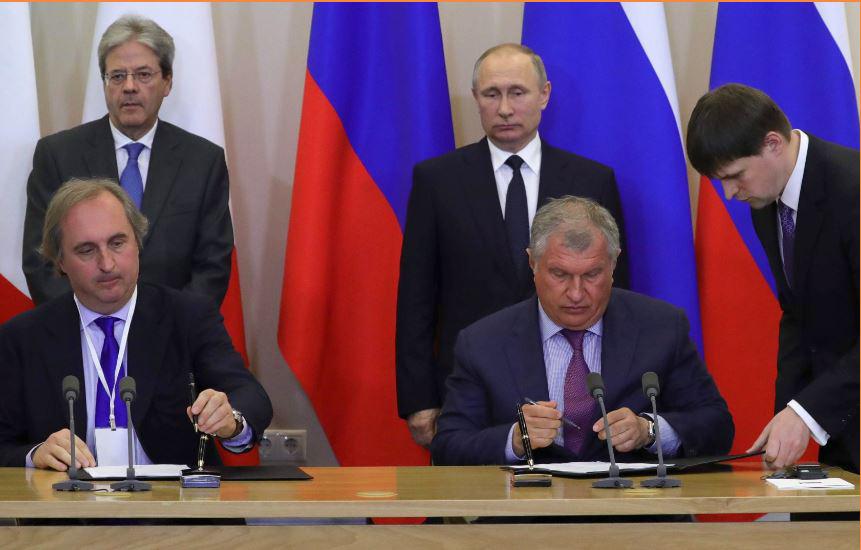 Gentilono e Putin per la firma accordo